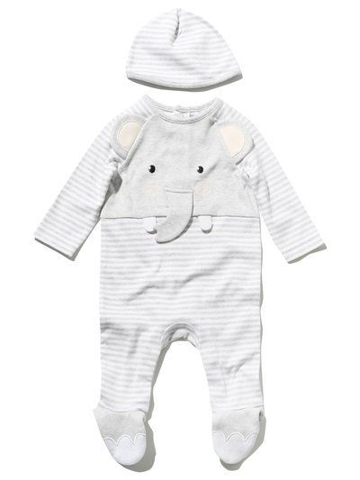 M Co. Baby Elephant sleepsuit and hat set  00837ccb172