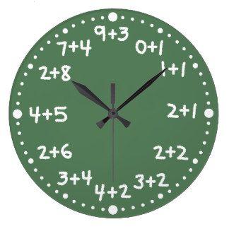 Reloj aritmético matemático de la diversión básica