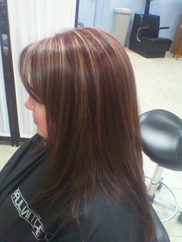 subtle highlights with a redbrown base