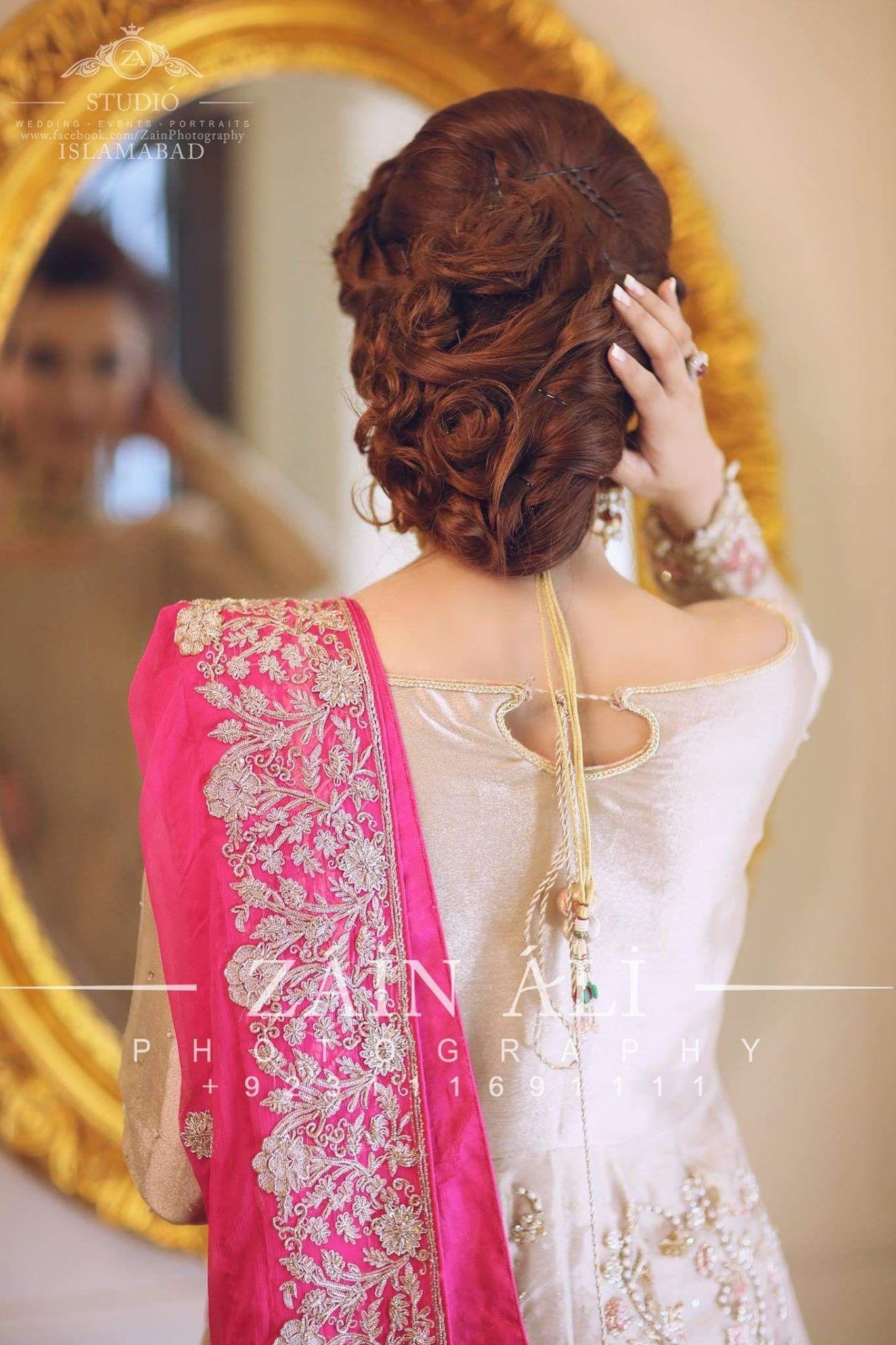 Soo Cute Bride Hairstyles Bridal Hair Updo Pakistani