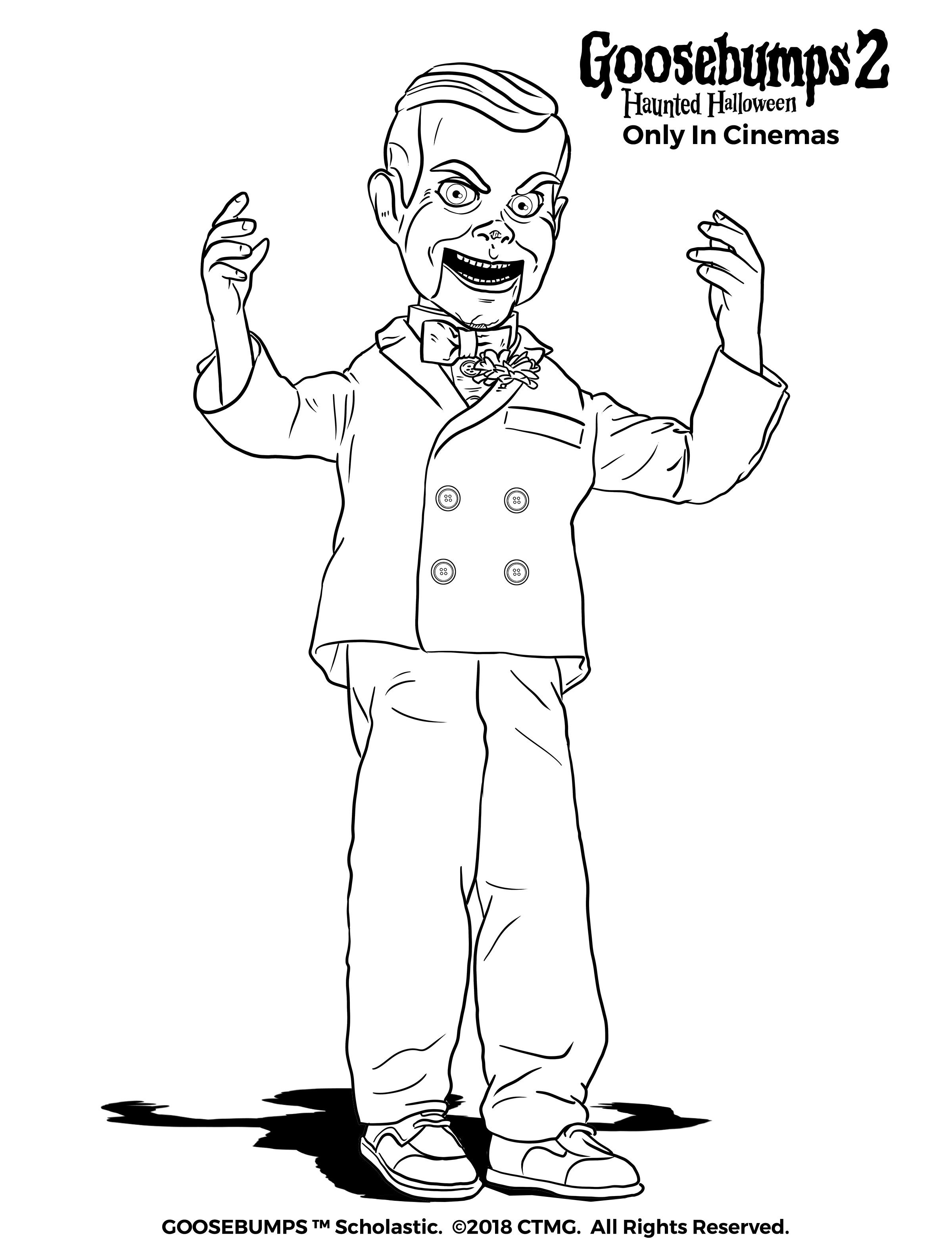 Slappy Wants To Play Goosebumps2movie Halloween Coloring Pages Toddler Coloring Book Spiderman Coloring