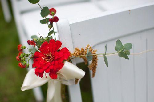 Aisle flowers- a sweet start - a maine wedding officiant
