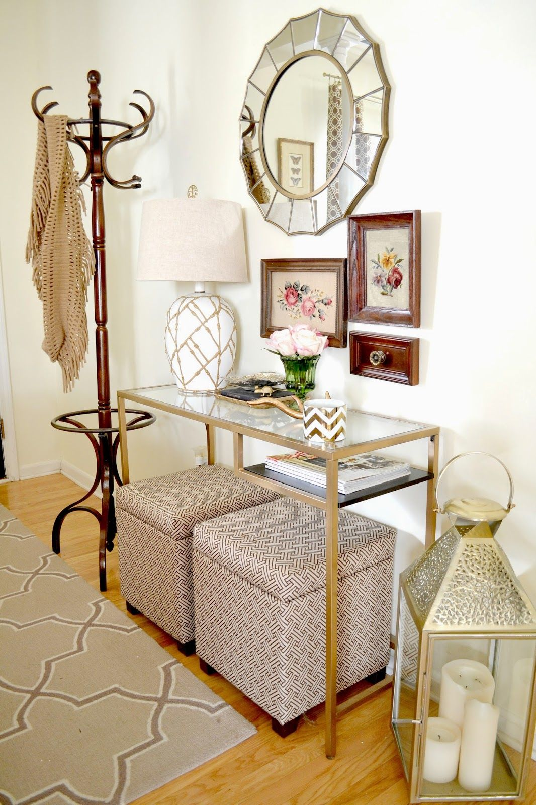 table and ottomans  living room decor decor home decor