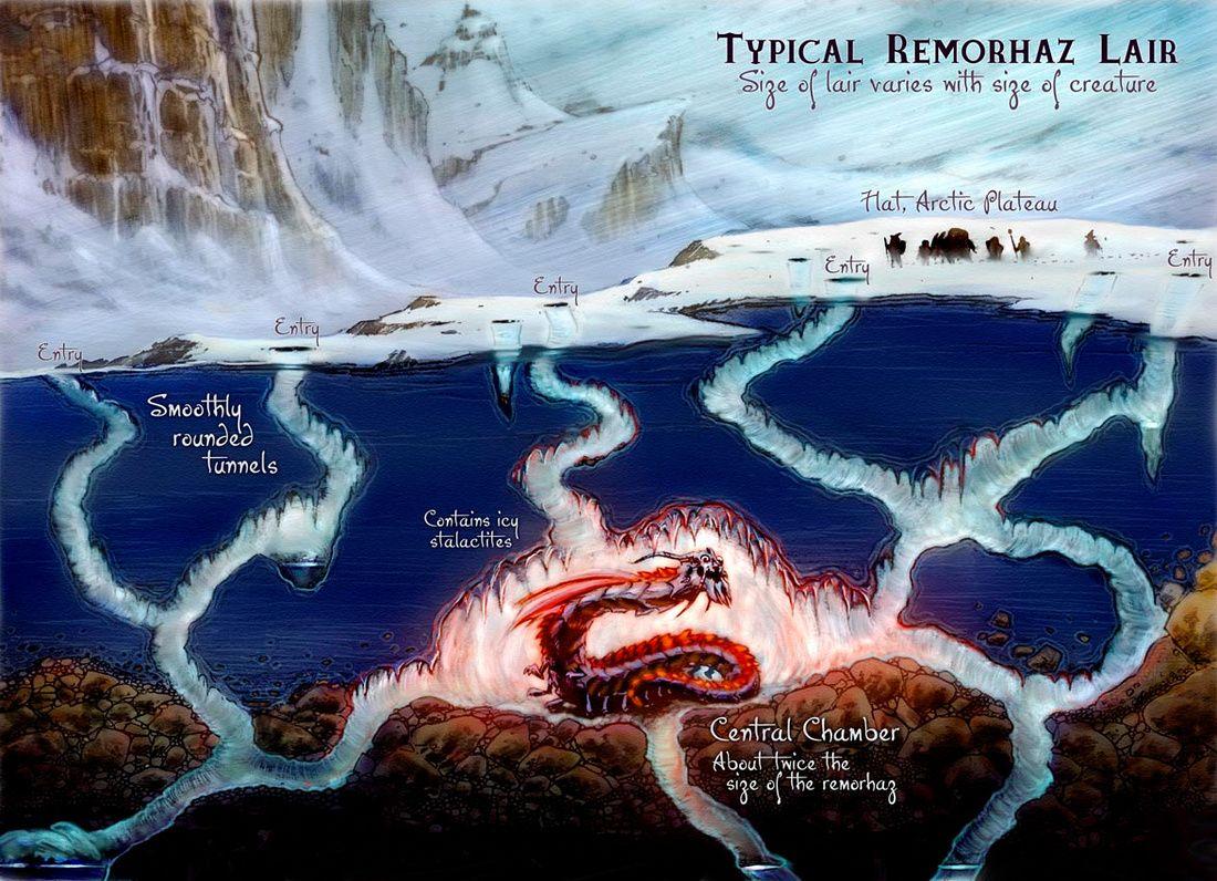 Remorhaz Lair | D&D Maps in 2019 | Dungeon maps, Fantasy ...