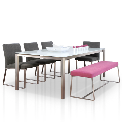 Spazio Dining Table Steel Dining Table Glass Dining Table