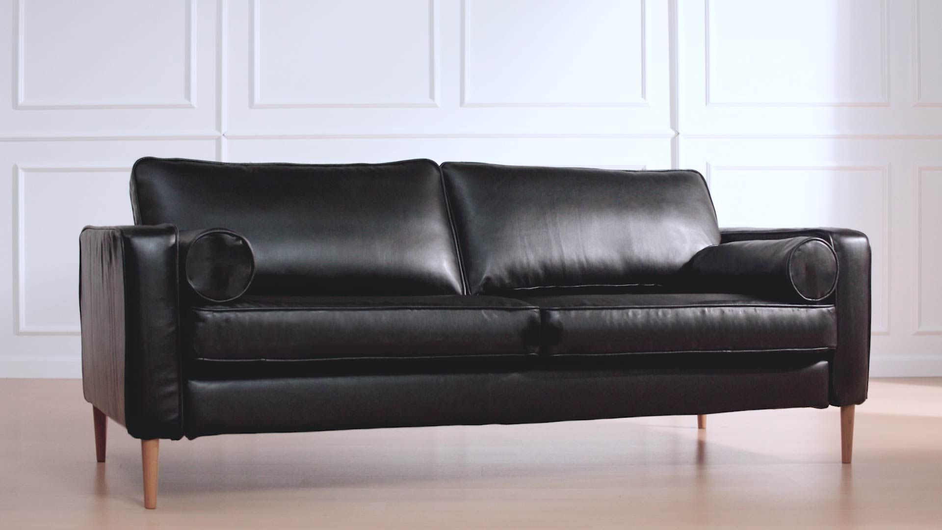 Matte Black Leather Slipcovers For Any Sofa Black Leather Couch Leather Sofa Covers Leather Couch Covers