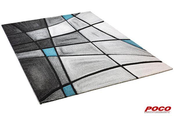 Teppich brilliance ca. 80 x 150 cm grau türkis