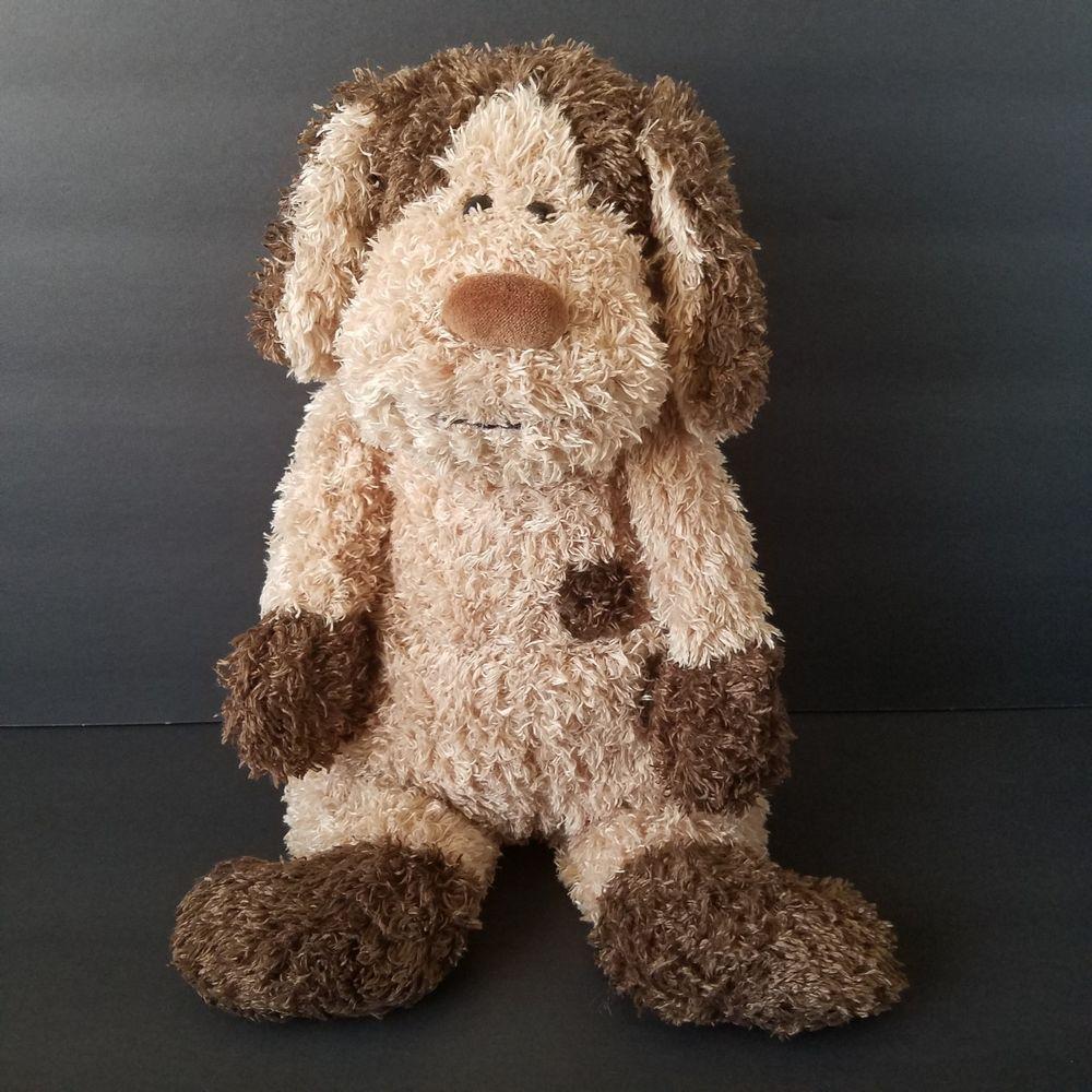 Jellycat Bunglie Dylan Dog Plush Stuffed Toy Brown Spots Puppy 16 Inches Jellycat Dylan Dog Jellycat Puppies