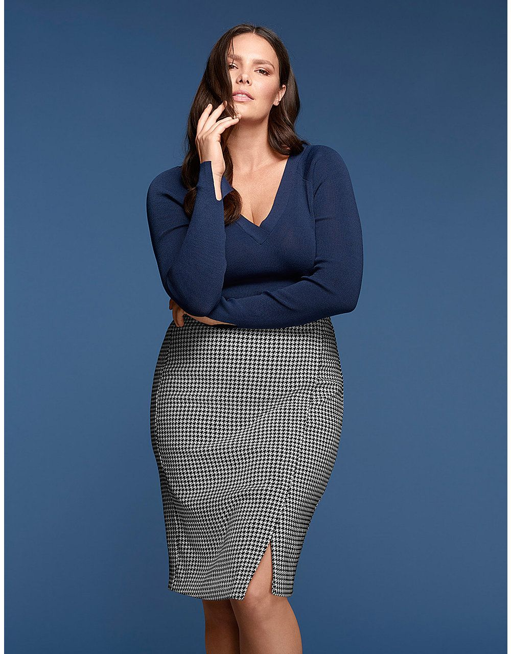 Double V-Neck Sweater by GLAMOUR X LANE BRYANT | Lane Bryant ...