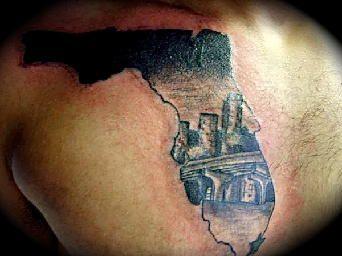 miami tattoo | Florida Miami Skyline | tattoos | Picture tattoos ...