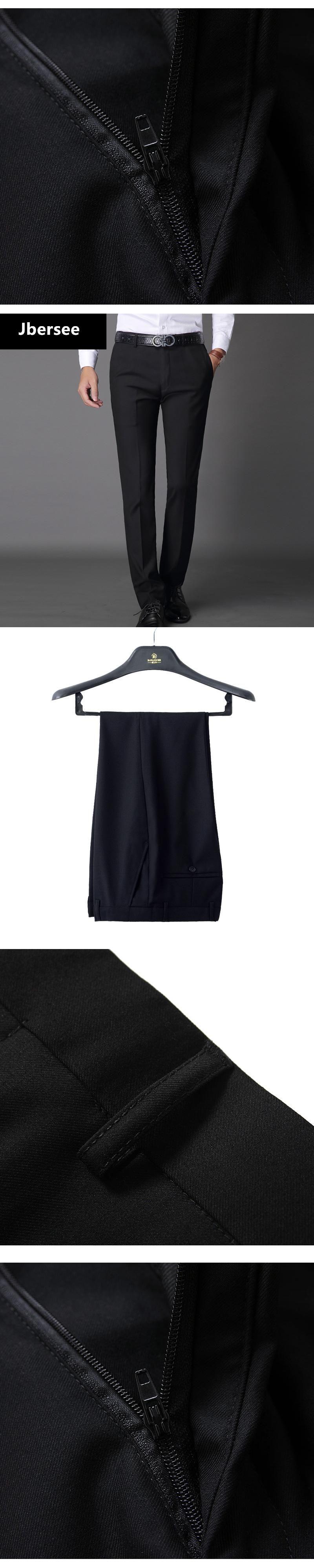 b40438e7de0 Jbersee Mens Suit Pants Fashion Dress Pants Formal Business Male Casual  Long Trousers Slim Fit Male