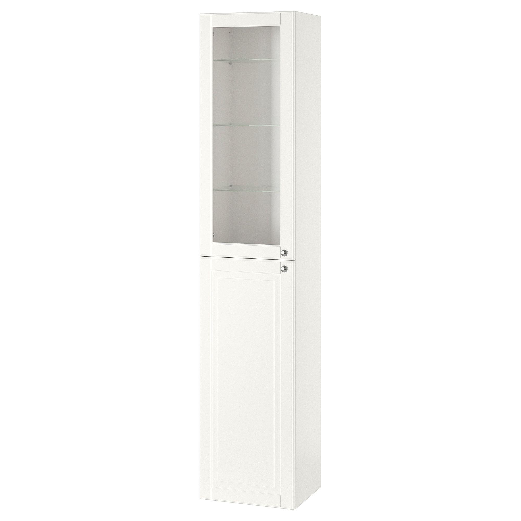 Ikea Godmorgon Kasjon White High Cabinet Ikea Glass Door Tall Cabinet Storage