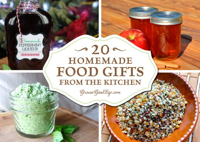 20+ Homemade Food Gifts from the Kitchen handmade gifts