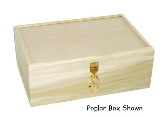 Unfinished Wood Box W Hinges Latch Lock 10 3 4 X 7 1 4 X 4 On Etsy 25 95 Unfinished Wood Boxes Wood Boxes Unfinished Wood