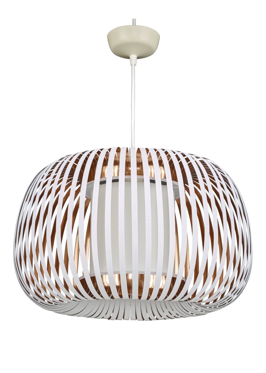 Ichigo abat jour pour suspension blanc et cuivre en pvc ichigo abat jour pour suspension blanc et cuivre en pvc habitat mozeypictures Image collections