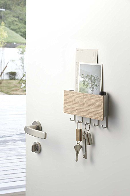 Amazon.com: YAMAZAKI Home Rin Magnetic Key Rack With Tray, Beige: Home U0026  Kitchen