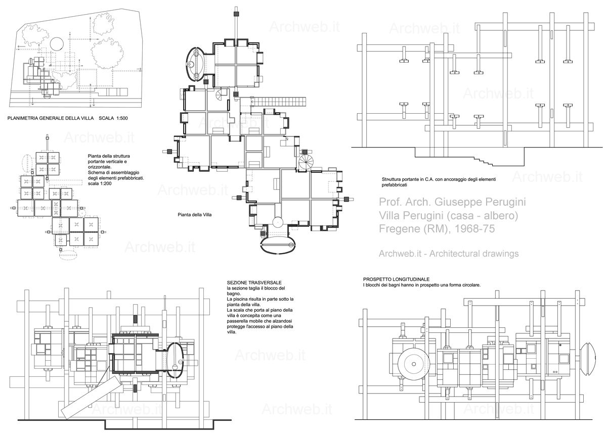 Villa Perugini Fregene Zoom Jpg 1200 865 Con Immagini Case