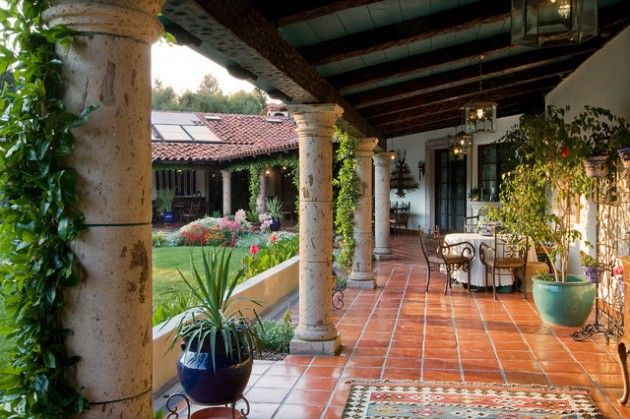 15 stunning mediterranean porch designs for the ultimate for Mexican porch designs