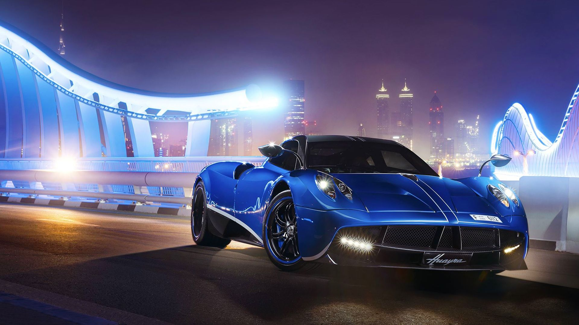 Full Hd Wallpaper Pagani Huayra Dubai Sports Car Highway Luxury