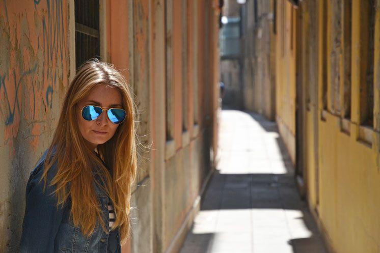 Blue Ray-Ban sunglasses