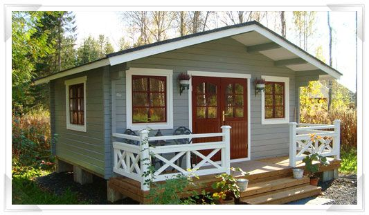 painted log cabin - Google Search  Colour SchemesHouse ...