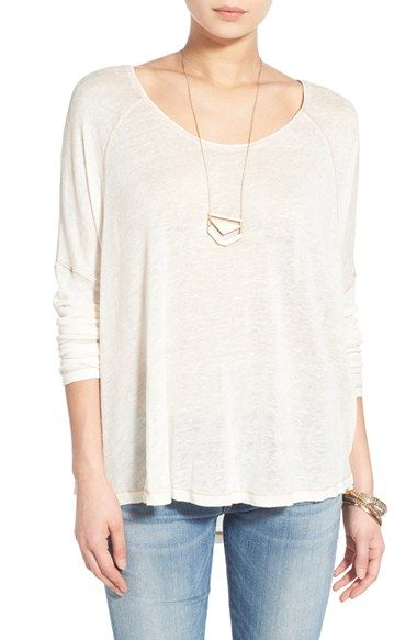 Free People 'Machiatto' Linen Blend Dolman Tee available at #Nordstrom