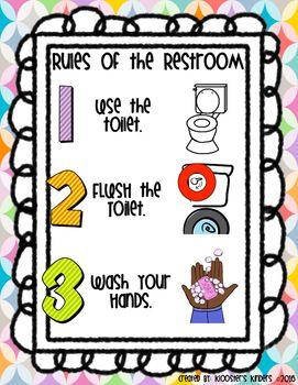 Restroom Bathroom Washroom Rules Expectations Classroom