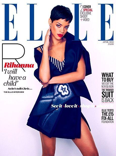 Rihanna es la protagonista en cuatro portadas de Elle +[FOTOS] +[VIDEO]