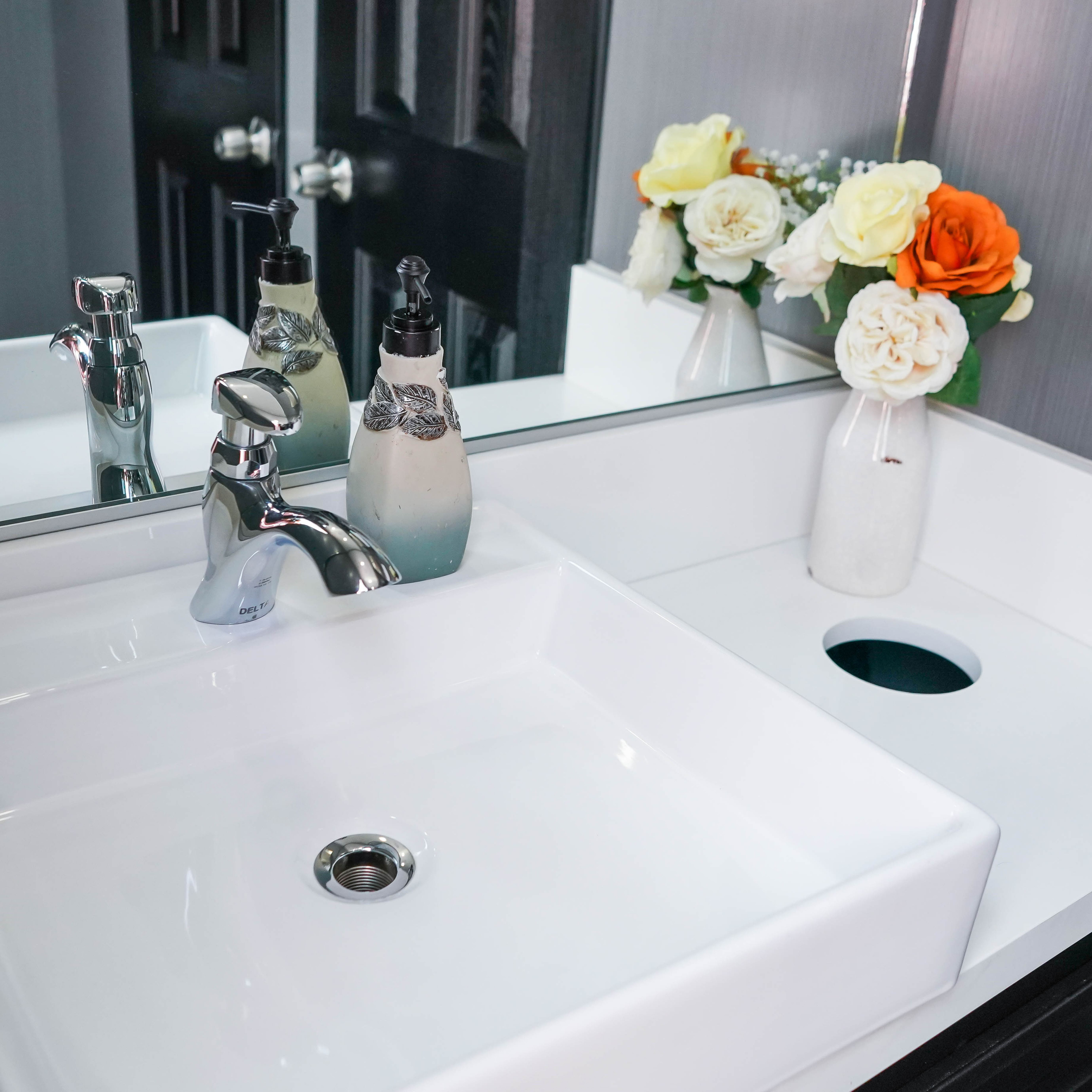 Luxury flush provides a variety of porta potty portable
