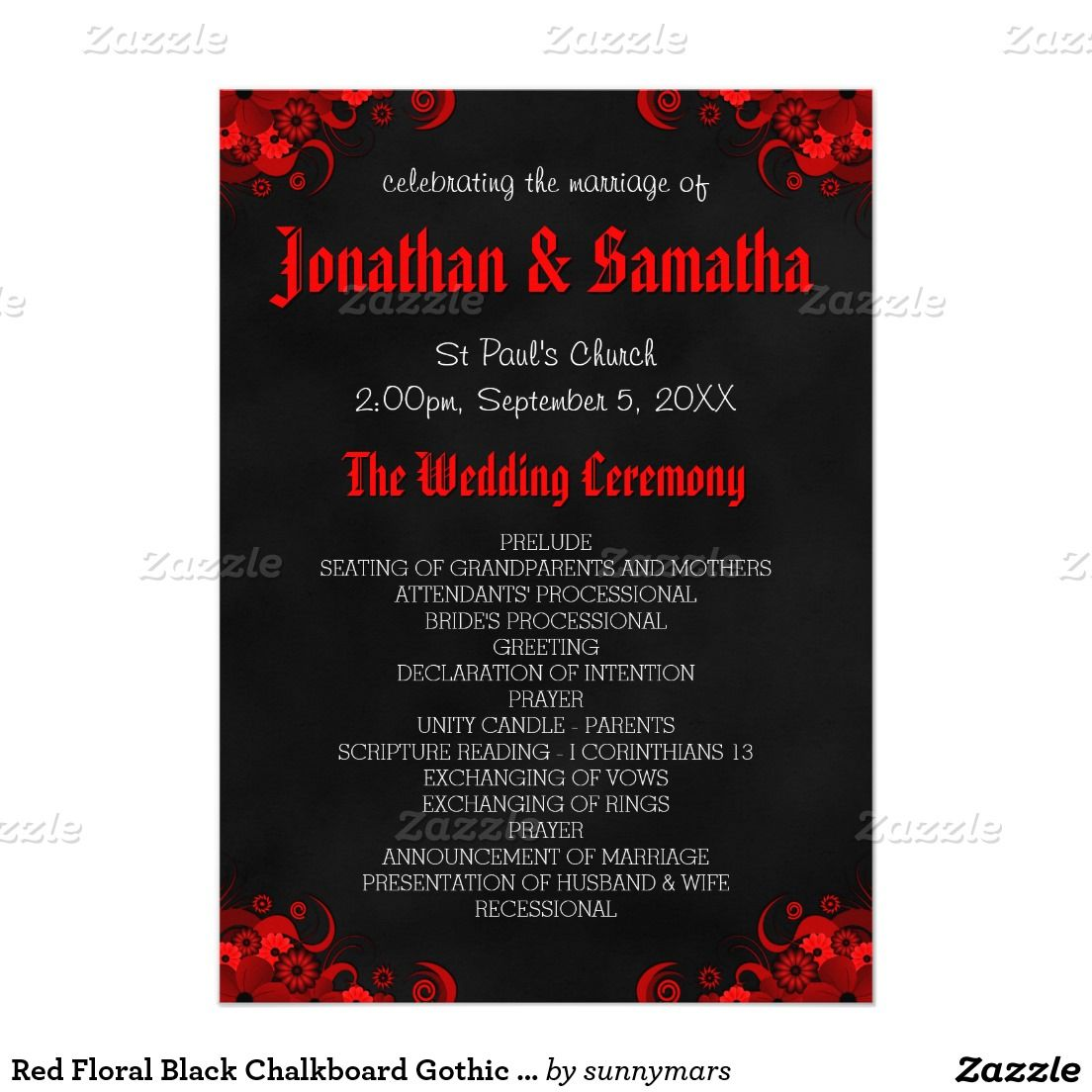 red wedding programs - Kubre.euforic.co
