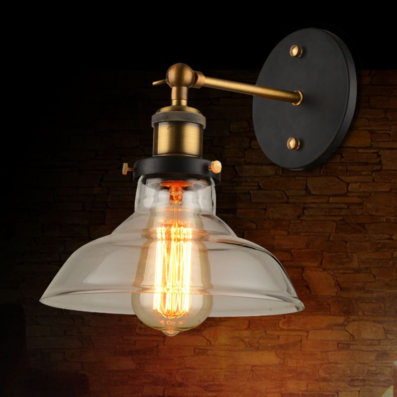 Retro Industrial Edison Bulb Single Wall Sconce Ceiling