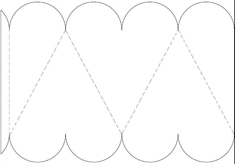 Printable heart shaped box template just add colour Printables
