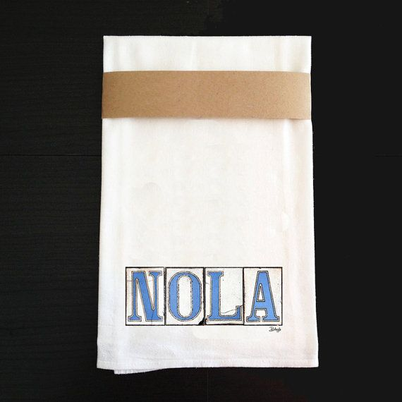 Kitchen Towel New Orleans Graphis  Nola by BethDaiglePhotograph