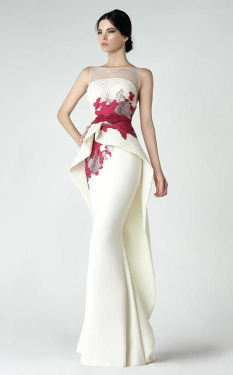 751812106049 Buy the Ruffled Peplum Gown 2904 by Saiid Kobeisy at CoutureCandy.com, the  largest