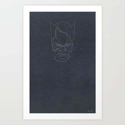 One Line Catwoman Art Print by quibe - $18.72