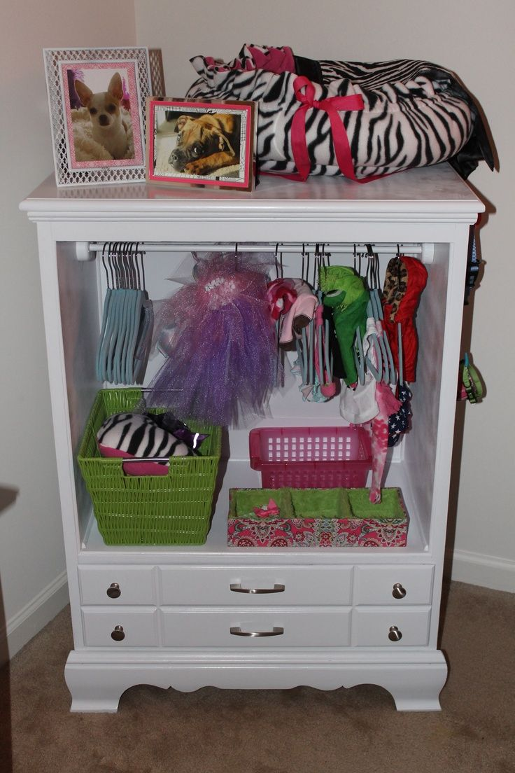 Dog Dresser/Closet Fantastic For Small Dogs Outfits! Just What The Well  Dressed Chihuahua Needs