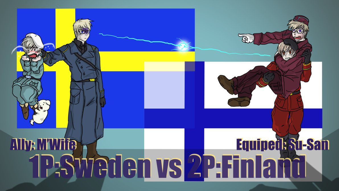 Hetalia Fight :1P Sweden vs 2P Finland by Sagealina deviantart com