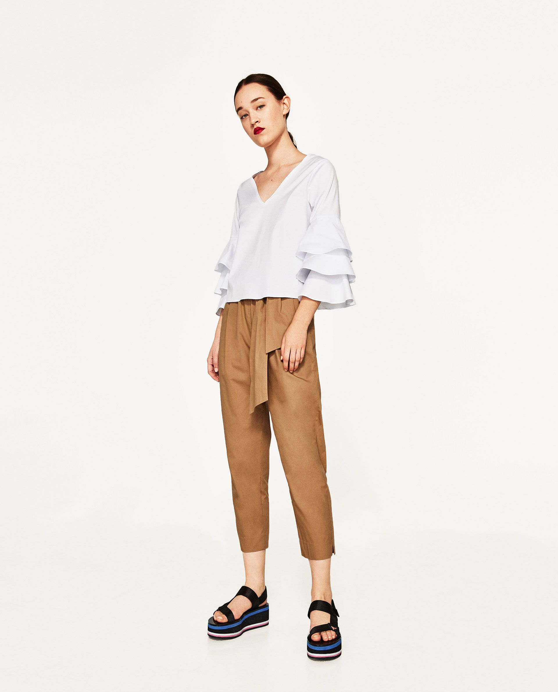 ZARA - WOMAN - RUFFLED POPLIN TOP