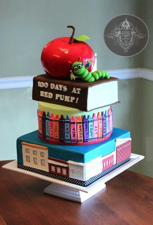 Cake Decoration School : 100 Days Of School Cake Cake Decorating Pinterest ...