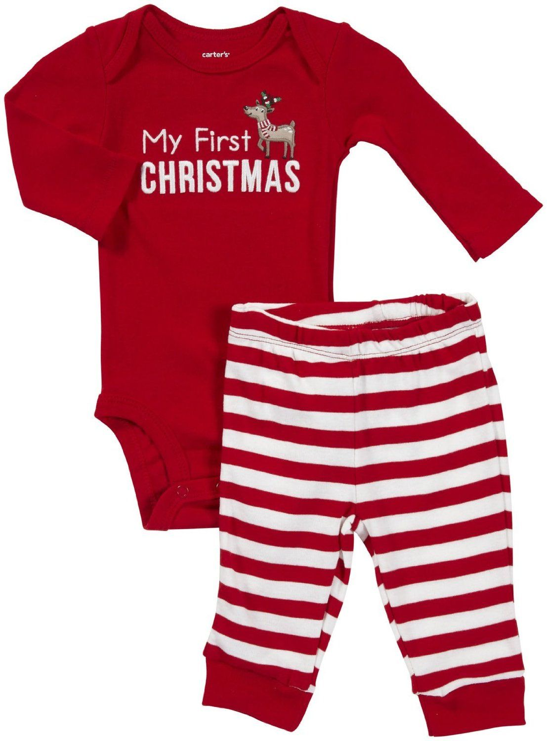 Carter S Unisex Baby My First Christmas Bodysuit Pant Set