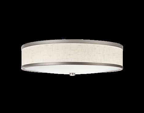 (Kichler)Flush Mt 3Lt Fluorescent CP - Kichler Lighting - pendant, ceiling, landscape light fixtures & more