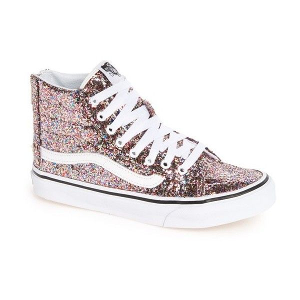 f084a85741f86 Women s Vans  sk8-Hi Slim  Metallic Leather Sneaker (€77) ❤ liked on Polyvore  featuring shoes