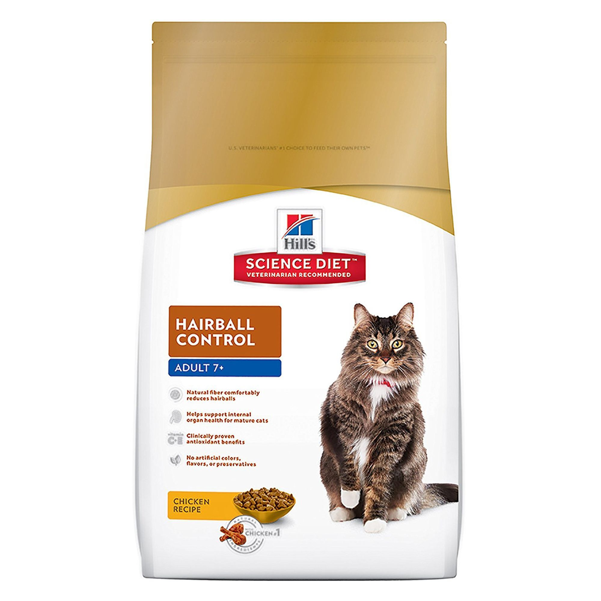 Hill's Science Diet Hairball Control Senior Cat Food