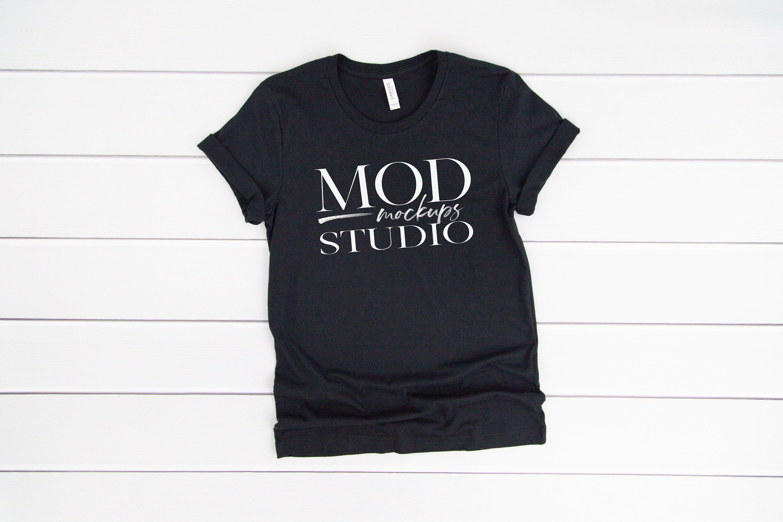 Download Vintage Black Bella Canvas 3001 T Shirt Mockup Bella Canvas Etsy Shirt Mockup Clothing Mockup Mockup Free Psd
