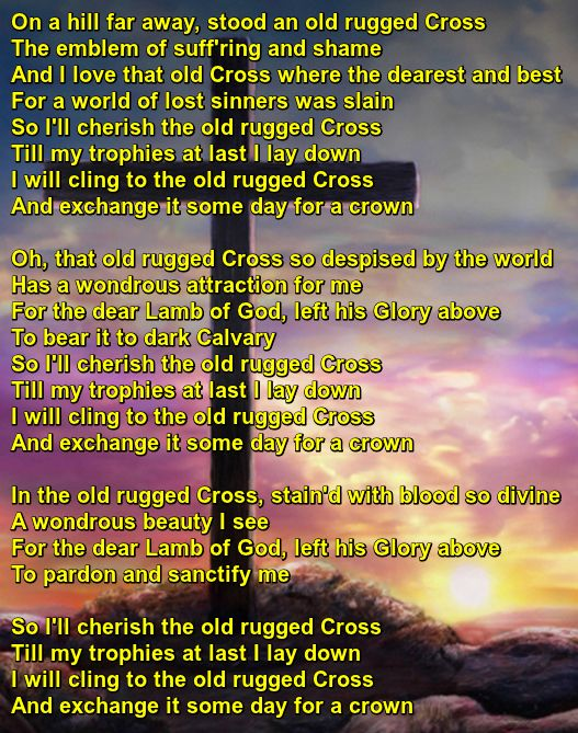 The Old Rugged Cross Recorded By Brad
