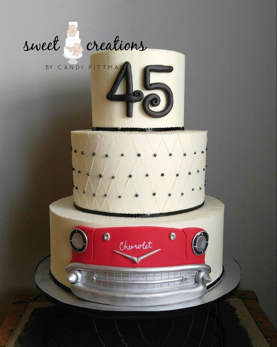 45th Wedding Anniversary 45th Wedding Anniversary Cake Cake Art
