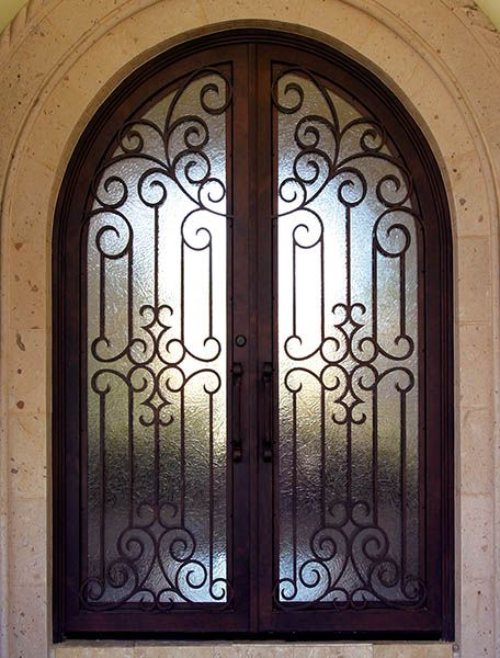 Colletti design iron doors wrought iron doors doors for Wrought iron front doors