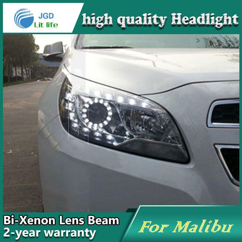 Car Styling Head Lamp Case For Chevrolet Malibu 2012 2013 Headlights Led Headlight Drl Lens Double Beam Bi Xenon Hid Chevrolet Malibu Car Lights Led Headlights