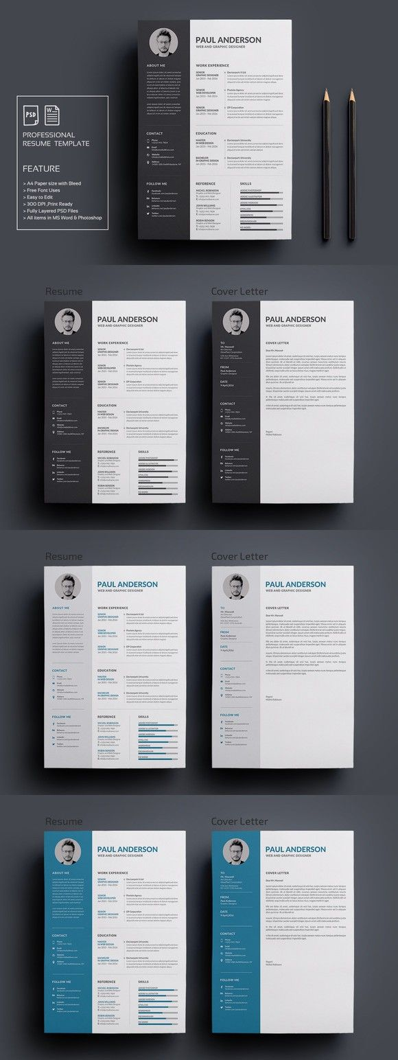 Resume/CV. Perfect Resume. $8.00   Резюме   Pinterest   Plantilla ...