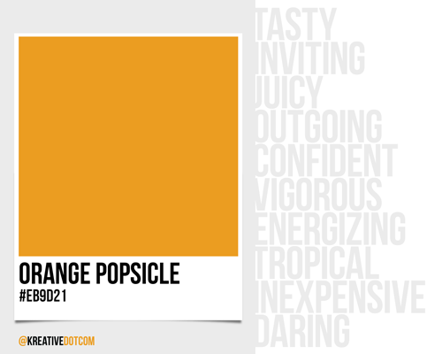 How does the color orange popsicle eb9d21 make you feel - How colors make you feel ...